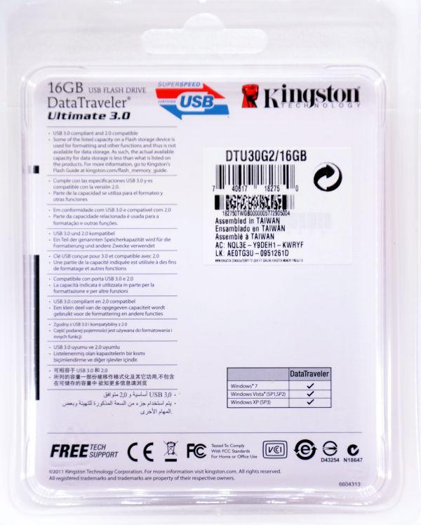 Kingston DataTraveler Ultimate USB 30 16GB Box Back