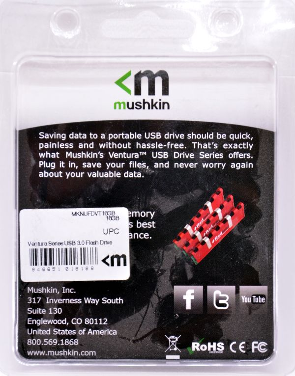 Mushkin Ventura USB 30 16GB Box Back