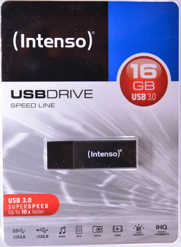 Intenso Speed Line USB 30 16GB Box Front