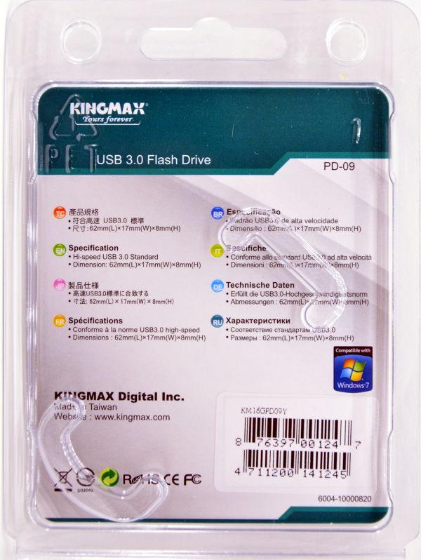 Kingmax Pop Series USB 30 16GB Box Back