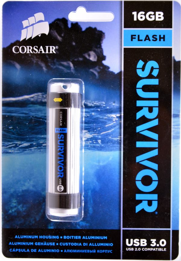 Corsair Flash Survivor USB 30 16GB Box Front