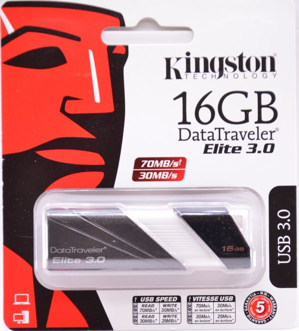 Kingston DataTraveler Elite USB 30 16GB Box Front