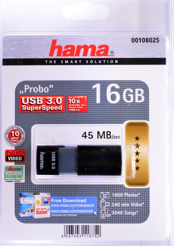Hama Probo USB 30 16GB Box Front